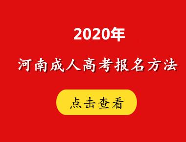 2020年河南成人高考报名方法解读
