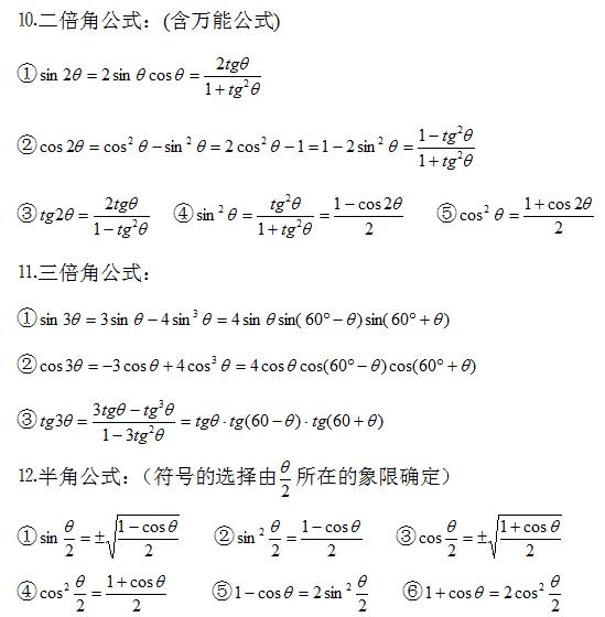 2020年河南成人高考高起点数学备考资料(2)