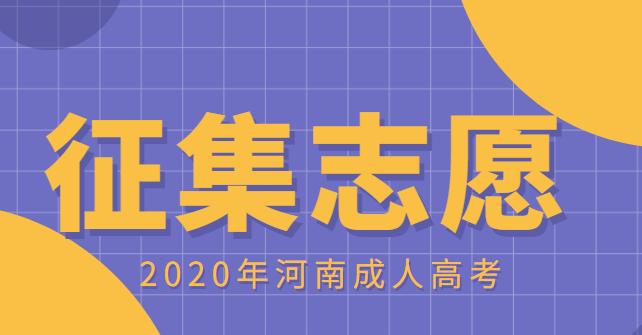 2020年河南成人高考征集志愿开始填报